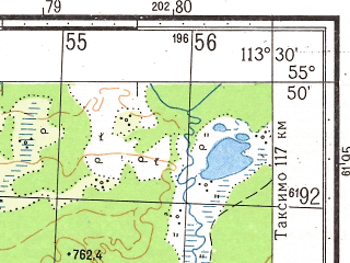 Reduced fragment of topographic map ru--gs--050k--n49-011-4--N055-50_E113-15--N055-40_E113-30
