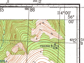 Reduced fragment of topographic map ru--gs--050k--n49-012-2--N056-00_E113-45--N055-50_E114-00