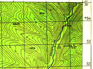 Reduced fragment of topographic map ru--gs--050k--n49-014-4--N055-30_E108-45--N055-20_E109-00