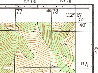 Reduced fragment of topographic map ru--gs--050k--n49-021-1--N055-40_E112-00--N055-30_E112-15