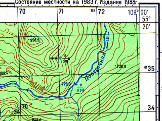 Reduced fragment of topographic map ru--gs--050k--n49-026-2--N055-20_E108-45--N055-10_E109-00