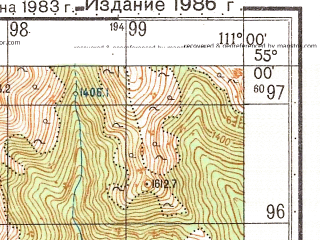 Reduced fragment of topographic map ru--gs--050k--n49-042-2--N055-00_E110-45--N054-50_E111-00