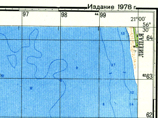 Reduced fragment of topographic map ru--gs--050k--o34-126-4--N056-30_E020-45--N056-20_E021-00