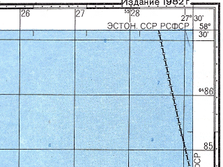 Reduced fragment of topographic map ru--gs--050k--o35-055-4--N058-30_E027-15--N058-20_E027-30