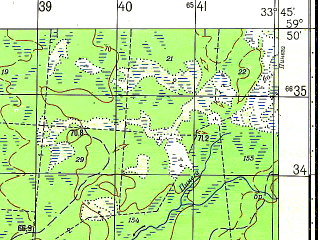 Reduced fragment of topographic map ru--gs--050k--o36-008-3--N059-50_E033-30--N059-40_E033-45; towns and cities Sarozha