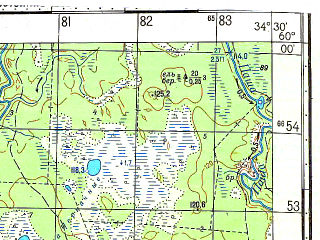 Reduced fragment of topographic map ru--gs--050k--o36-009-2--N060-00_E034-15--N059-50_E034-30