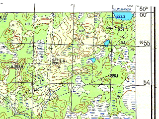 Reduced fragment of topographic map ru--gs--050k--o36-010-2--N060-00_E034-45--N059-50_E035-00