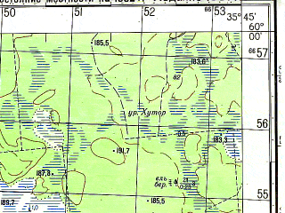 Reduced fragment of topographic map ru--gs--050k--o36-012-1--N060-00_E035-30--N059-50_E035-45