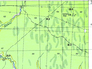 Reduced fragment of topographic map ru--gs--050k--o36-016-3--N059-30_E031-30--N059-20_E031-45