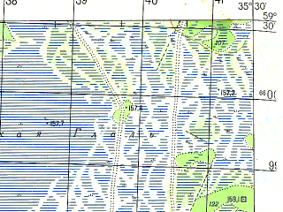 Reduced fragment of topographic map ru--gs--050k--o36-023-4--N059-30_E035-15--N059-20_E035-30