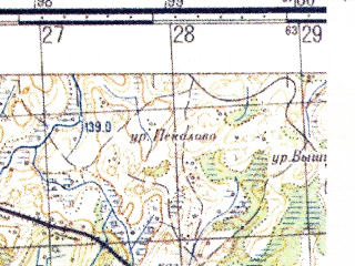 Reduced fragment of topographic map ru--gs--050k--o36-133-1--N056-20_E030-00--N056-10_E030-15