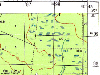 Reduced fragment of topographic map ru--gs--050k--o37-022-3--N059-30_E040-30--N059-20_E040-45