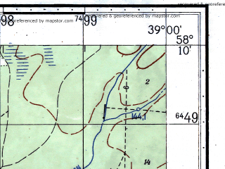Reduced fragment of topographic map ru--gs--050k--o37-066-4--(1972)--N058-10_E038-45--N058-00_E039-00; towns and cities Rybinsk