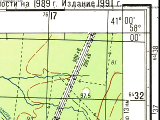 Reduced fragment of topographic map ru--gs--050k--o37-082-2--N058-00_E040-45--N057-50_E041-00