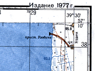 Reduced fragment of topographic map ru--gs--050k--o37-103-4--N057-10_E039-15--N057-00_E039-30; towns and cities Porech'ye Rybnoye