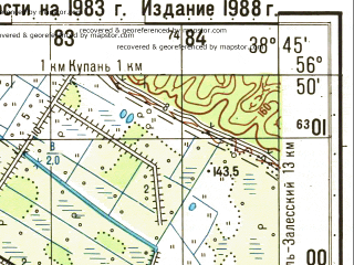 Reduced fragment of topographic map ru--gs--050k--o37-114-3--N056-50_E038-30--N056-40_E038-45; towns and cities Usol'ye