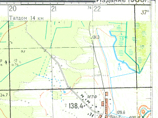 Reduced fragment of topographic map ru--gs--050k--o37-124-1--N056-40_E037-30--N056-30_E037-45; towns and cities Verbilki