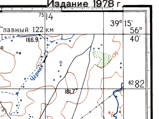 Reduced fragment of topographic map ru--gs--050k--o37-127-1--N056-40_E039-00--N056-30_E039-15; towns and cities Berendeyevo