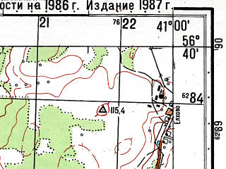Reduced fragment of topographic map ru--gs--050k--o37-130-2--(1987)--N056-40_E040-45--N056-30_E041-00