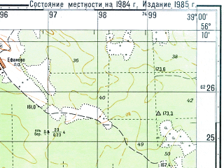 Reduced fragment of topographic map ru--gs--050k--o37-138-4--N056-10_E038-45--N056-00_E039-00; towns and cities Kirzhach