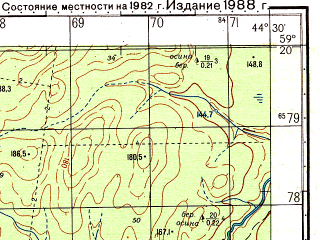 Reduced fragment of topographic map ru--gs--050k--o38-029-2--N059-20_E044-15--N059-10_E044-30
