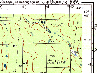 Reduced fragment of topographic map ru--gs--050k--o38-040-2--N059-00_E043-45--N058-50_E044-00