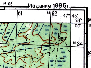 Reduced fragment of topographic map ru--gs--050k--o38-084-1--(1981)--N058-00_E047-30--N057-50_E047-45
