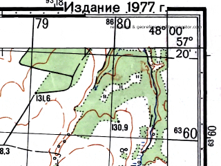 Reduced fragment of topographic map ru--gs--050k--o38-108-2--(1976)--N057-20_E047-45--N057-10_E048-00; towns and cities Yaransk