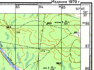 Reduced fragment of topographic map ru--gs--050k--o39-018-3--N059-30_E050-30--N059-20_E050-45