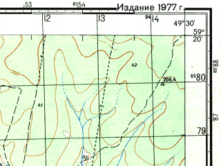 Reduced fragment of topographic map ru--gs--050k--o39-027-2--N059-20_E049-15--N059-10_E049-30