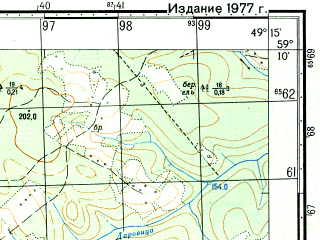 Reduced fragment of topographic map ru--gs--050k--o39-027-3--N059-10_E049-00--N059-00_E049-15