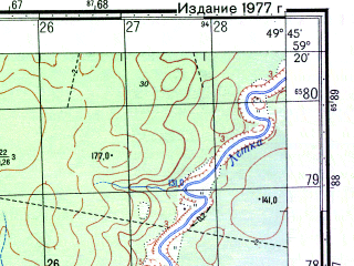 Reduced fragment of topographic map ru--gs--050k--o39-028-1--N059-20_E049-30--N059-10_E049-45