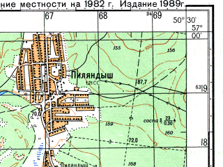 Reduced fragment of topographic map ru--gs--050k--o39-113-2--N057-00_E050-15--N056-50_E050-30; towns and cities Bolshoy Roy, Pilyandysh, Shurma