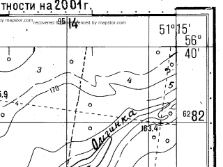 Reduced fragment of topographic map ru--gs--050k--o39-127-1--(2001)--N056-40_E051-00--N056-30_E051-15
