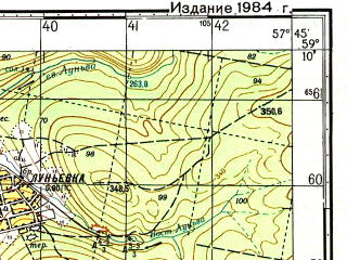 Reduced fragment of topographic map ru--gs--050k--o40-032-3--N059-10_E057-30--N059-00_E057-45; towns and cities Kizel, Aleksandrovsk, Lun'yevka