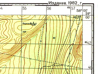 Reduced fragment of topographic map ru--gs--050k--o40-044-2--N059-00_E057-45--N058-50_E058-00; towns and cities Shirokovskiy