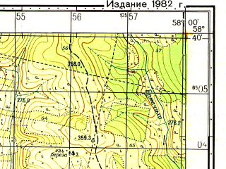 Reduced fragment of topographic map ru--gs--050k--o40-056-2--N058-40_E057-45--N058-30_E058-00; towns and cities Gremyachinsk