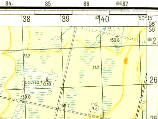 Reduced fragment of topographic map ru--gs--050k--o41-037-3--N058-50_E060-00--N058-40_E060-15; towns and cities Novoturinskoye