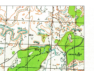 Reduced fragment of topographic map ru--gs--050k--o41-132-3--N056-30_E065-30--N056-20_E065-45