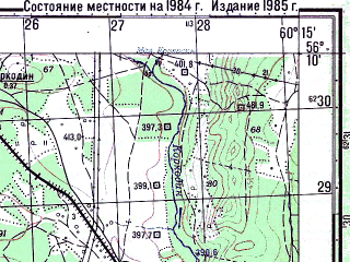 Reduced fragment of topographic map ru--gs--050k--o41-133-3--N056-10_E060-00--N056-00_E060-15; towns and cities Verkhniy Ufaley