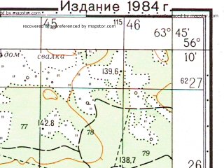 Reduced fragment of topographic map ru--gs--050k--o41-140-3--N056-10_E063-30--N056-00_E063-45; towns and cities Shadrinsk