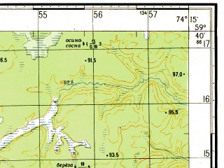 Reduced fragment of topographic map ru--gs--050k--o43-017-1--N059-40_E074-00--N059-30_E074-15