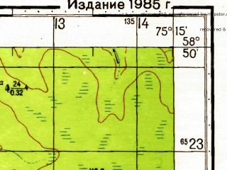 Reduced fragment of topographic map ru--gs--050k--o43-043-3--N058-50_E075-00--N058-40_E075-15
