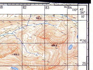 Reduced fragment of topographic map ru--gs--050k--o49-138-3--N056-10_E110-30--N056-00_E110-45