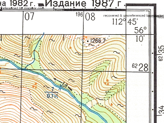 Reduced fragment of topographic map ru--gs--050k--o49-142-3--N056-10_E112-30--N056-00_E112-45