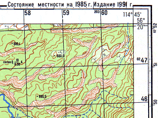 Reduced fragment of topographic map ru--gs--050k--o50-134-1--N056-20_E114-30--N056-10_E114-45