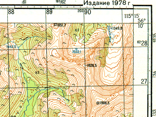 Reduced fragment of topographic map ru--gs--050k--o50-135-3--N056-10_E115-00--N056-00_E115-15