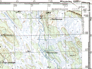 Reduced fragment of topographic map ru--gs--050k--p36-039-1_2--N063-00_E031-00--N062-50_E031-30