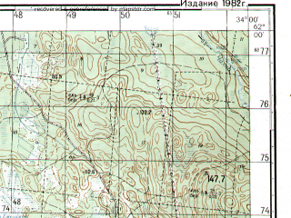 Reduced fragment of topographic map ru--gs--050k--p36-080-1_2--N062-00_E033-30--N061-50_E034-00