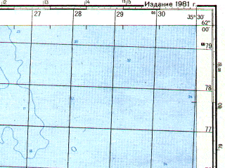 Reduced fragment of topographic map ru--gs--050k--p36-083-1_2--N062-00_E035-00--N061-50_E035-30; towns and cities Klimenitsy